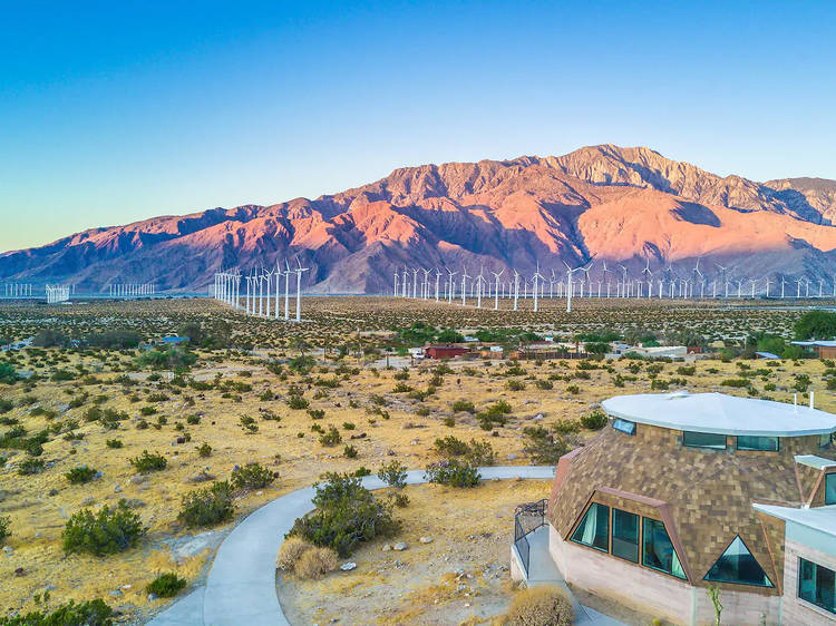 A geodesic dome in Palm Springs