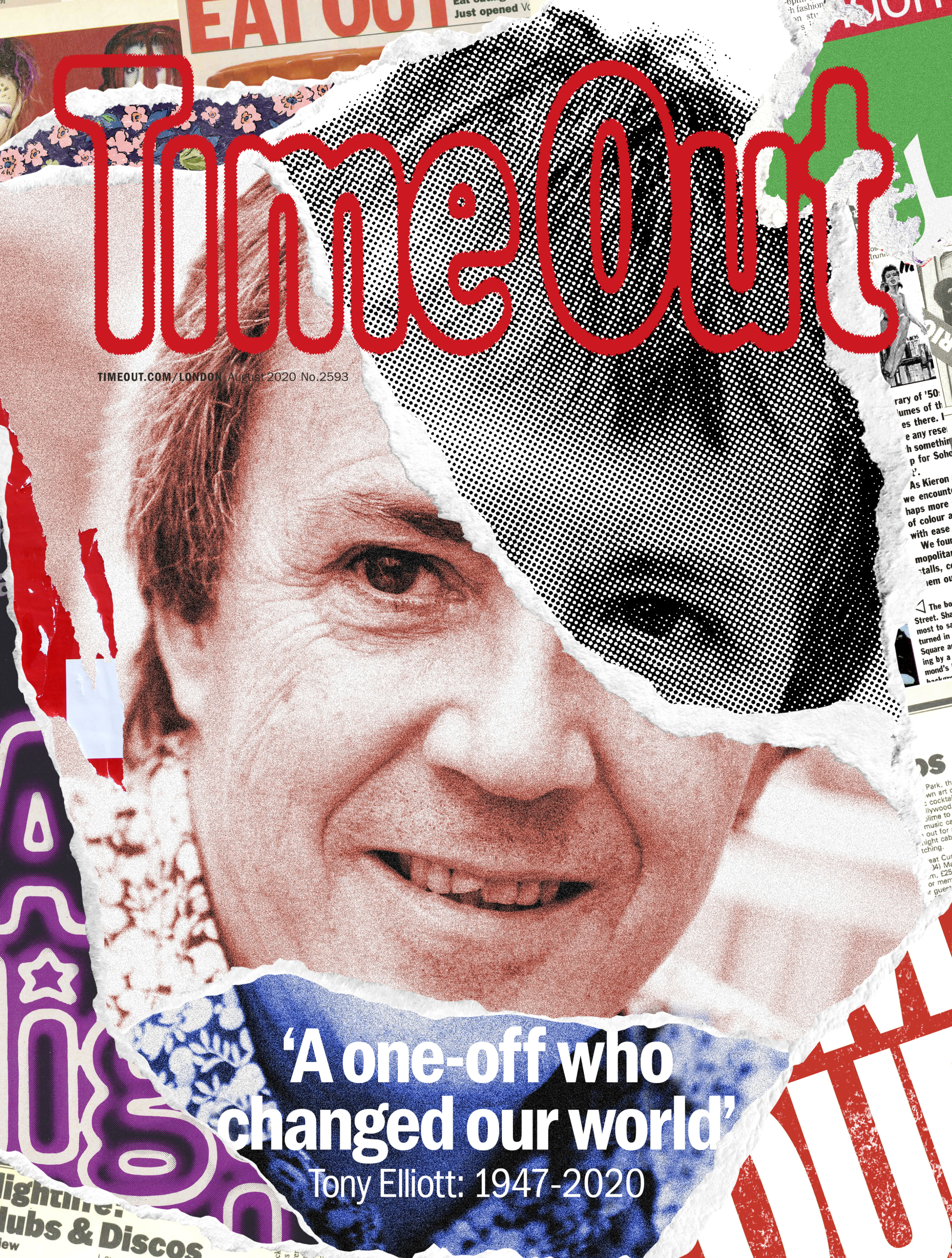 Time Out London special edition magazine dedicated to late founder. Out 11th August 2020