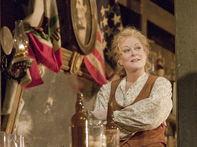 "Deborah Voigt as Minnie in Puccini's ""La Fanciulla del West"" (The Girl of the Golden West) during the rehearsal on December 3, 2010 at the Metropolitan Opera in New York City.\"