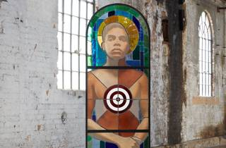Tony Albert, 'Brothers (The Prodigal Son)', stained glass image