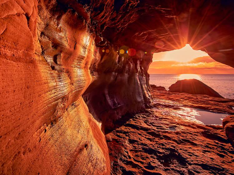 Seek out the secret seaside tunnel at Queenscliff Beach