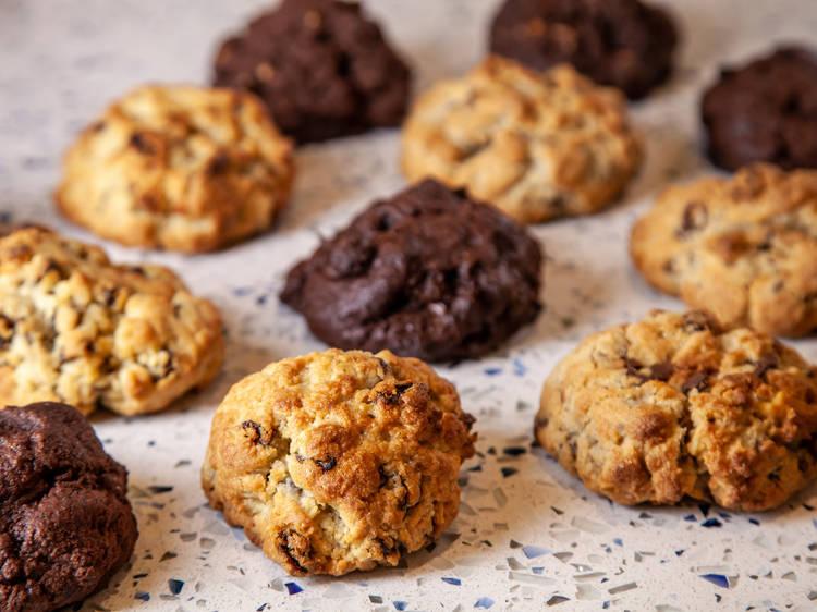Chocolate-chip–walnut cookie at Levain