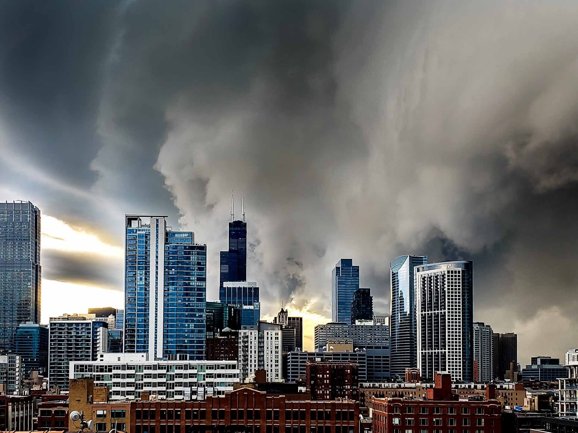 A tornado warning has been issued for parts of Chicago
