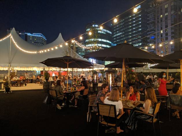 Meet the Seaport's biggest new outdoor hot spot: Tuscan Kitchen's Il Giardino