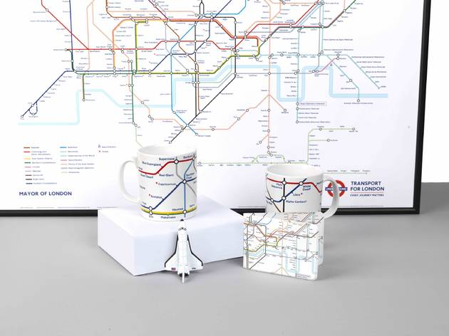 Check out this starry, space-themed tube map created by Royal Observatory Greenwich