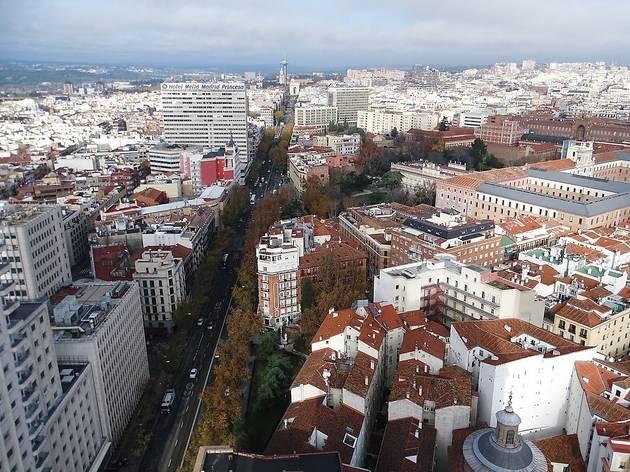 Vista aérea de la calle Princesa