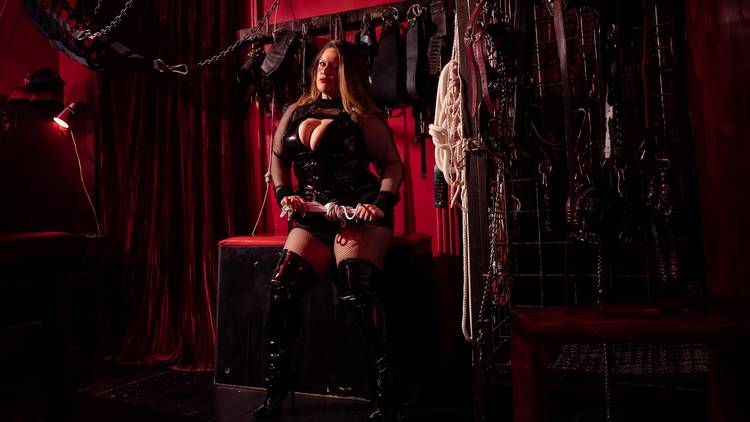 Mistress Lucilla in the 'Red Dungeon'