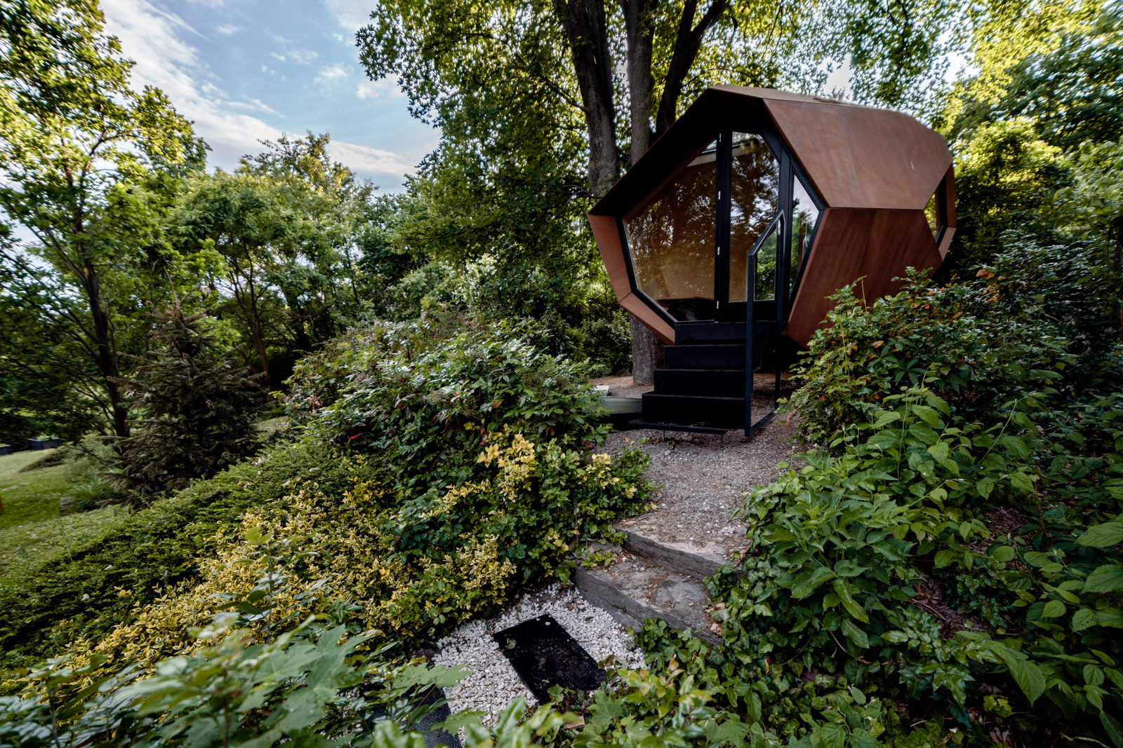 Everywhere booked up this summer? Build your own glamping cabin instead