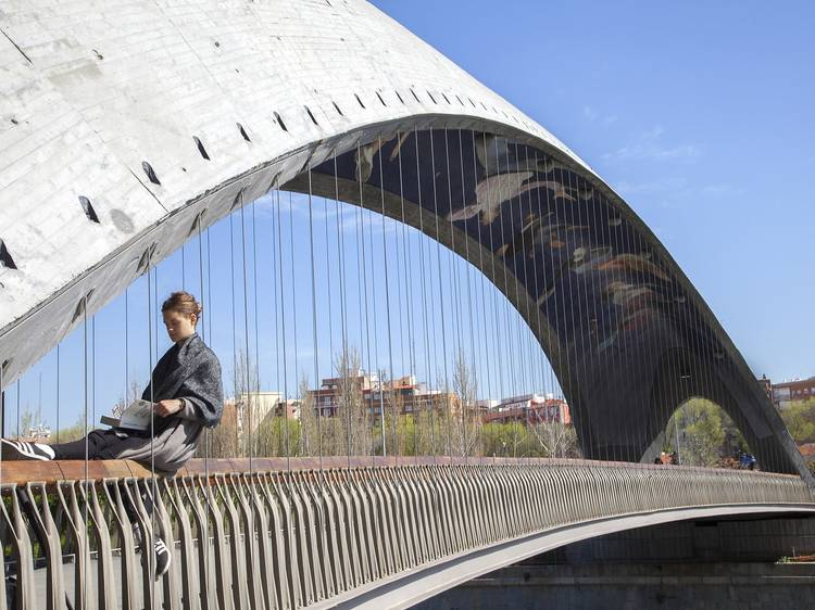 Puentes gemelos de Madrid Rïo