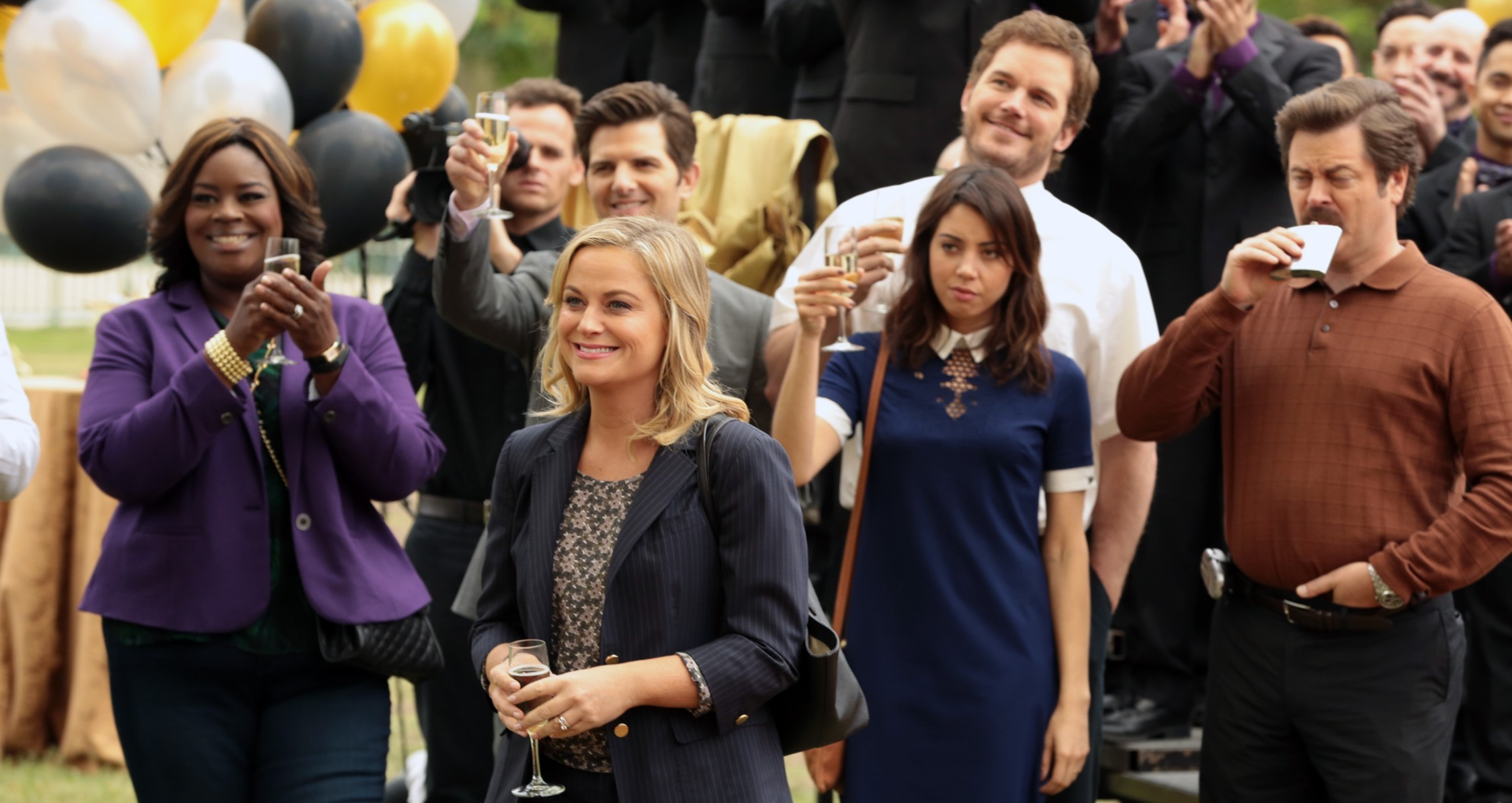 The Parks and Recreation cast