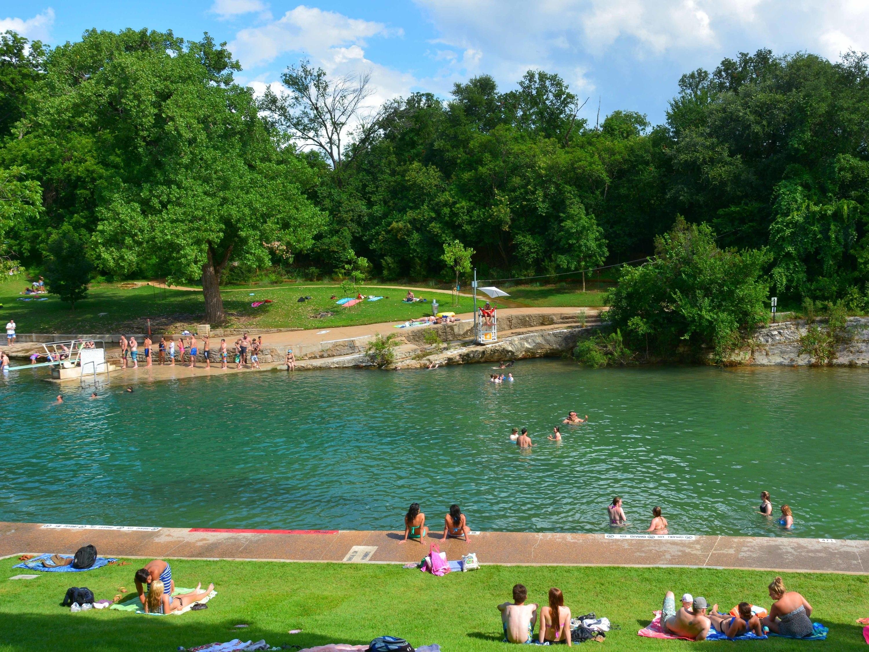 Barton Springs Pool, Austin, Texas, Zilker Park