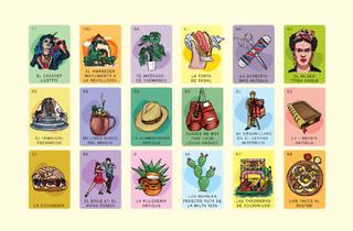 Ilustración que hace referencia al juego mexicano Lotería