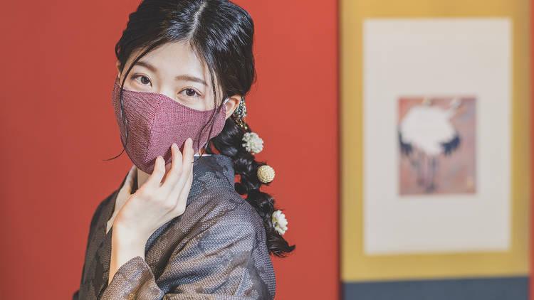 Takebe Orimono washi paper face mask