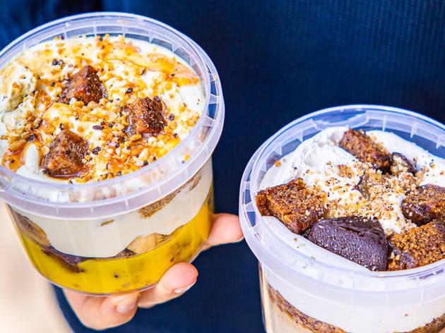 Vegan banana puddings from Nutie
