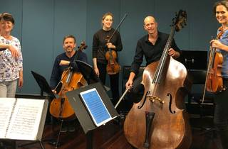 Classical musicians Selby & Friends with their instruments