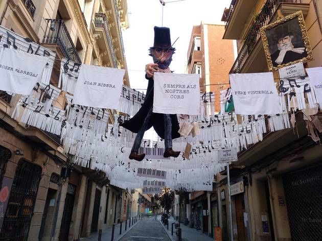 Festa Major de Gàcia 2020. Guarniment del carrer Verdi