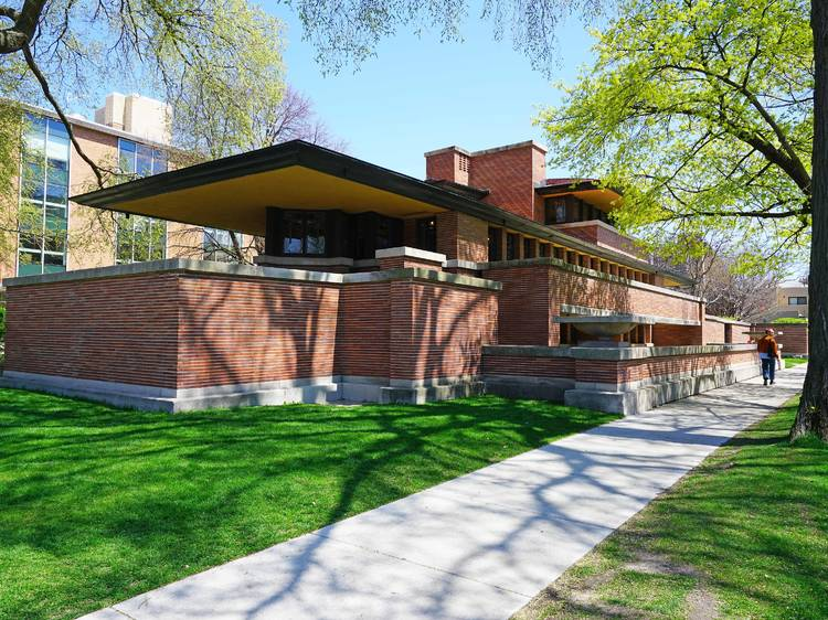 Marvel at Frank Lloyd Wright's architecture at the Robie House