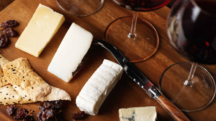 Hendriks Cognac and Wine cheese plate