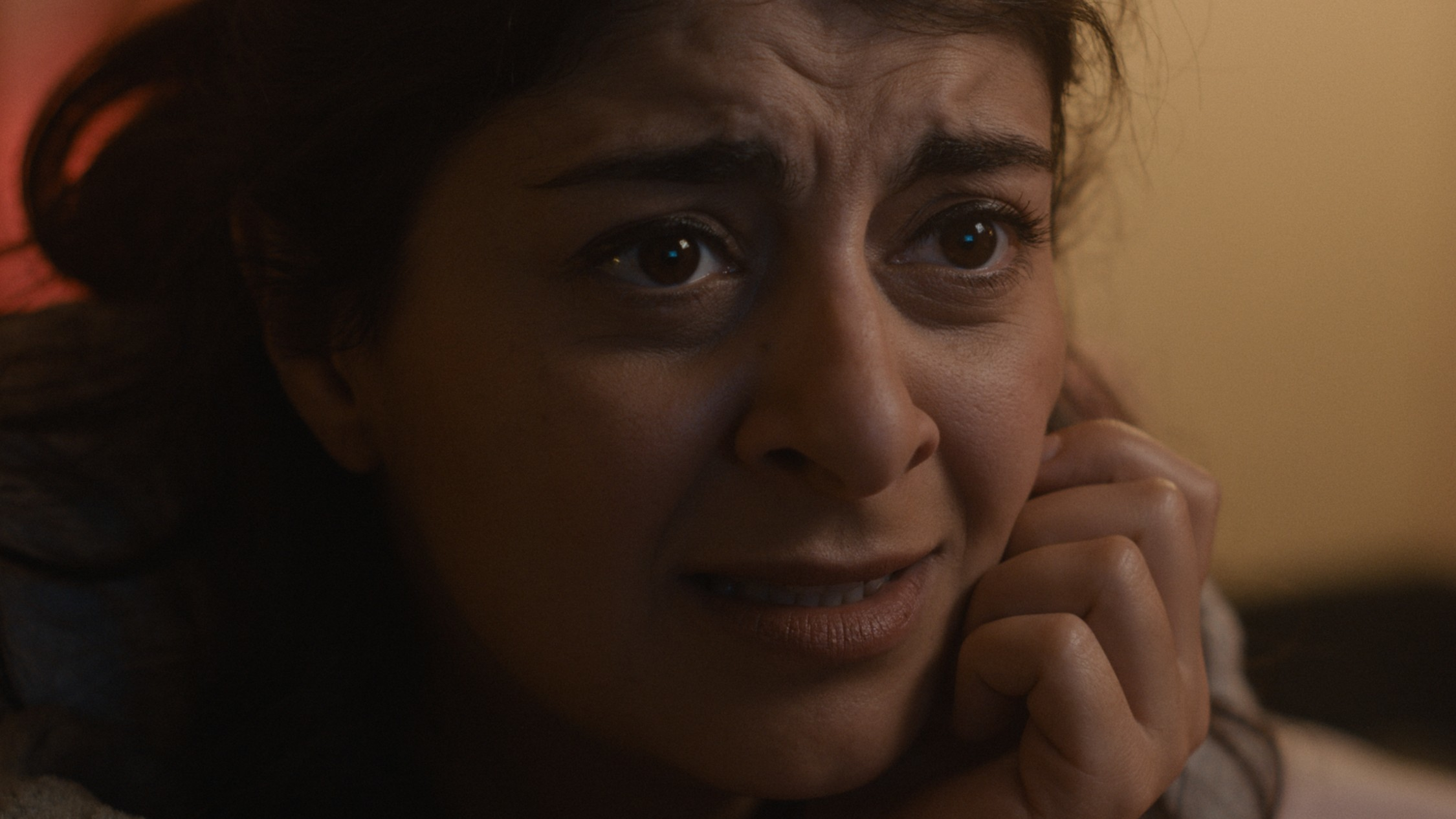 Close up of comedian and actor Susie Youssef