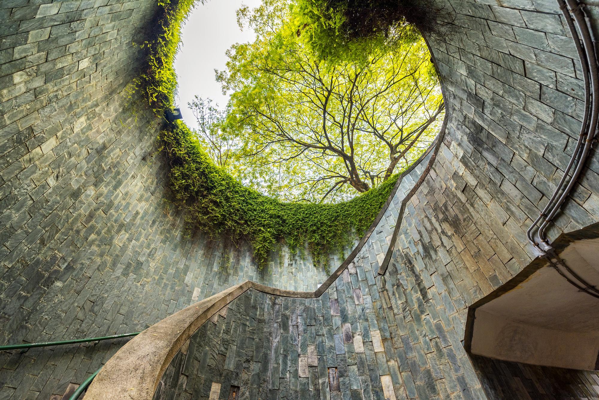 underground tunnel, fort canning park