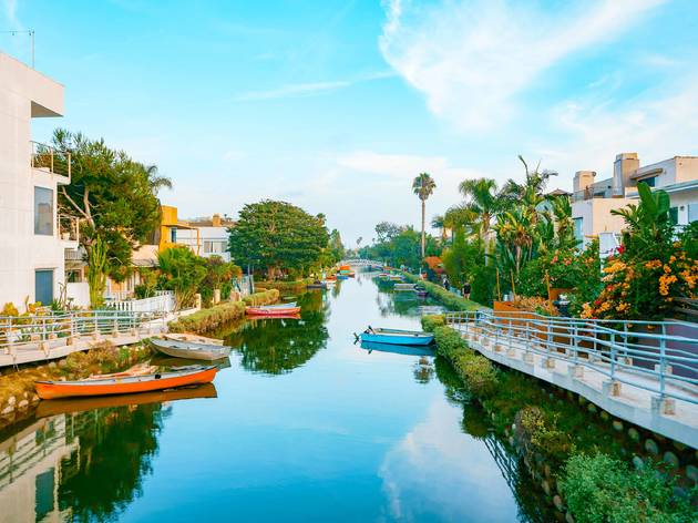 Venice Canals, Venice Beach, California, boats