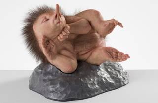 Patricia Piccinini's sleeping hedgehog-like sculpture The Dreamer