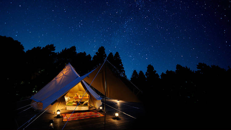 Twin Ring glamping, tent, camping