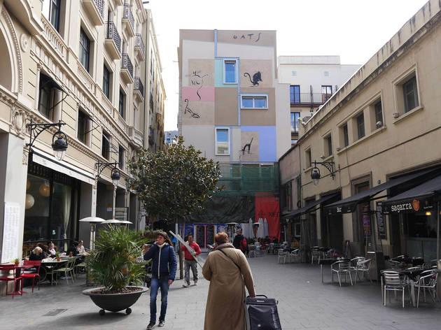 Mural Gats al carrer Xuclà