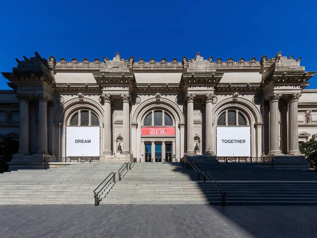 Yoko Ono banners Metropolitan Museum of Art