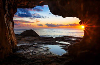 Queenscliff Tunnel at sunset