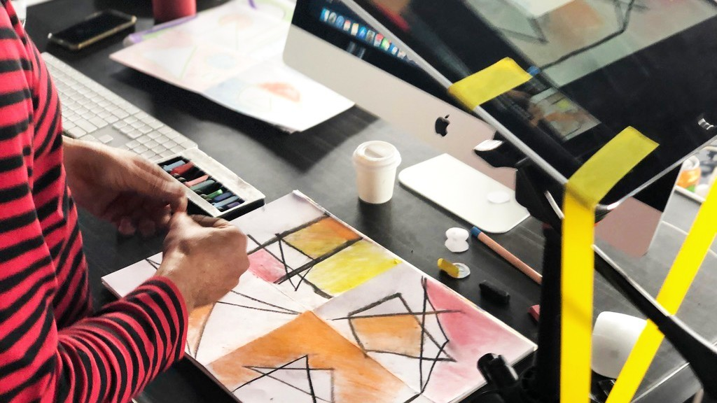 Drawing in colours