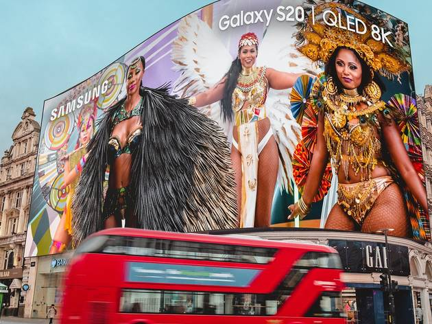 notting hill carnival 2020 in piccadilly circus