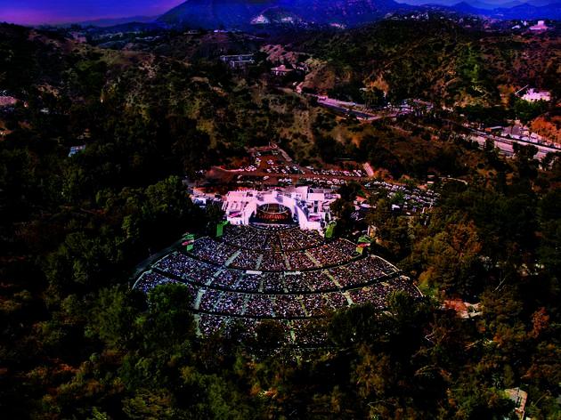 Hollywood Bowl, drone image, Los Angeles, California