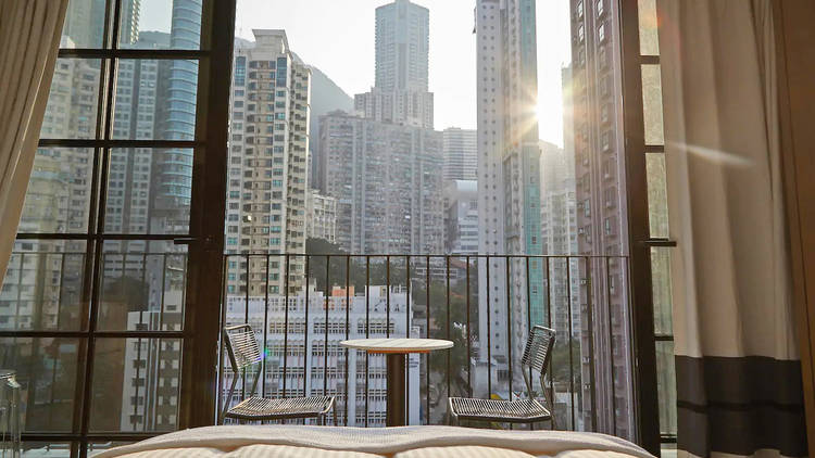 Sky studio and private balcony Airbnb