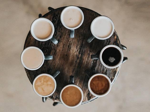 O café também pode ser uma boa paleta de cores