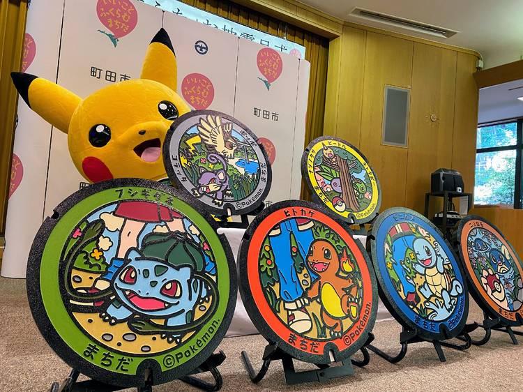 Pokémon manhole covers