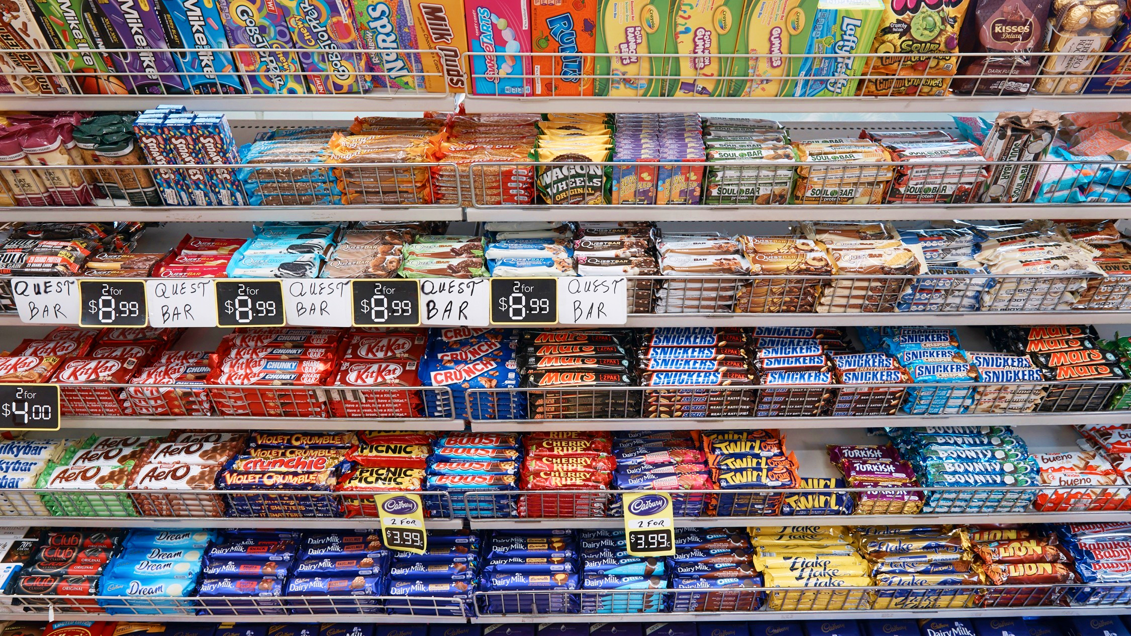 The shelves of Redfern Convenience Store