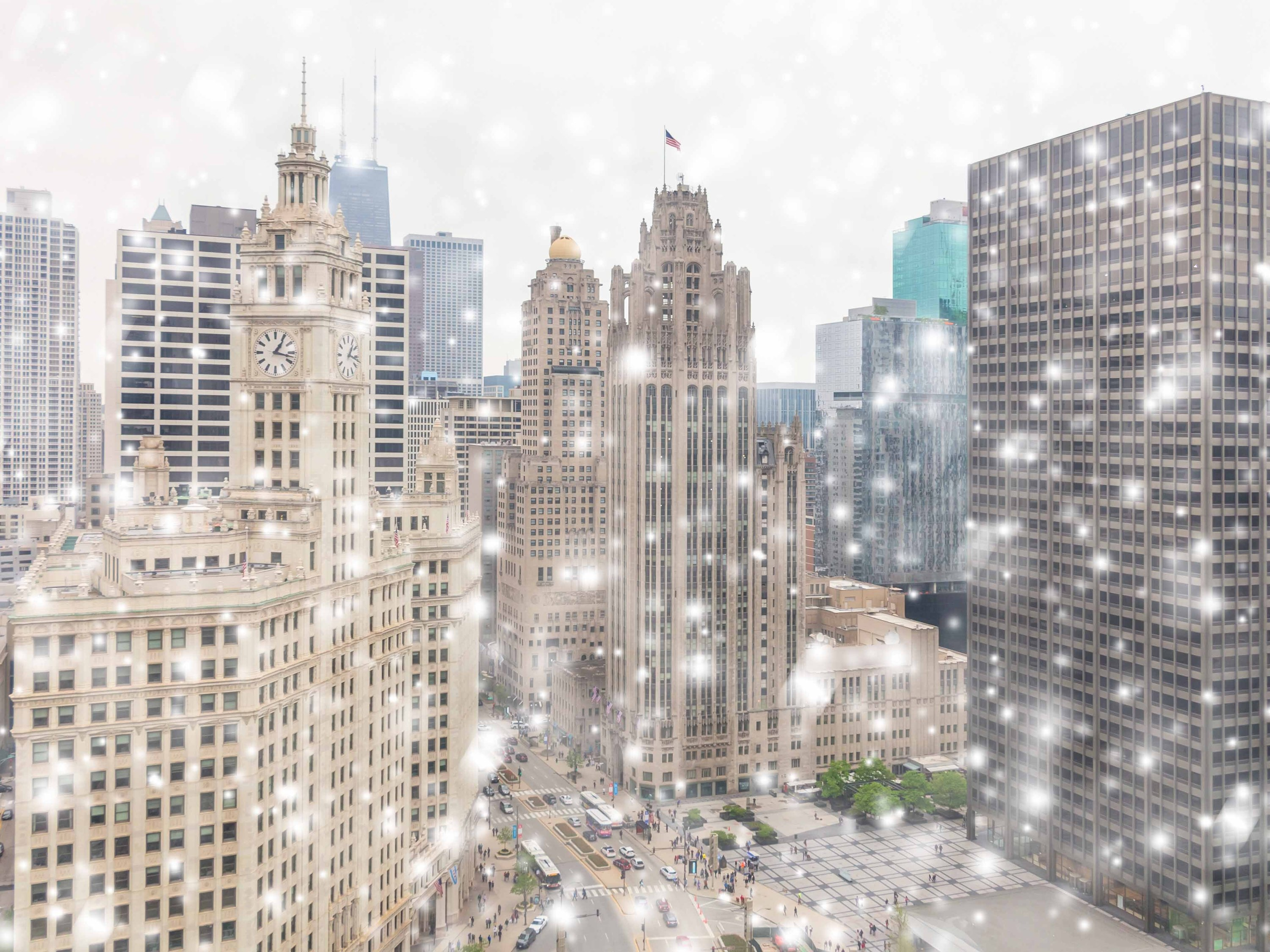 It's October and it's snowing in Chicago, which isn't as unusual as it sounds