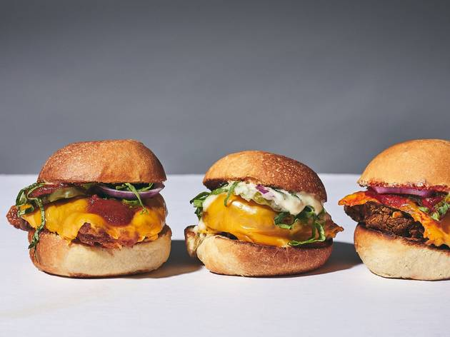 hamburguesas sliders con pollo