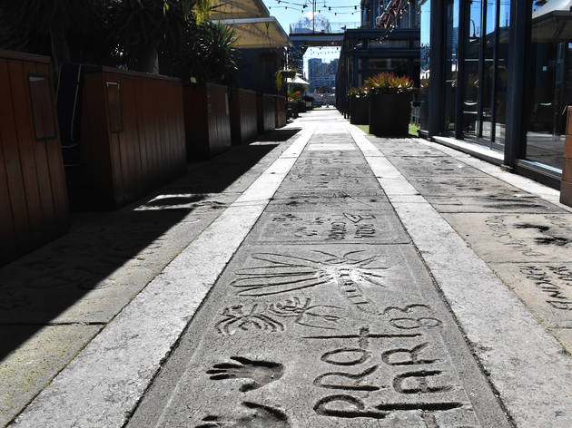 The Foothpath of Fame in the Rocks