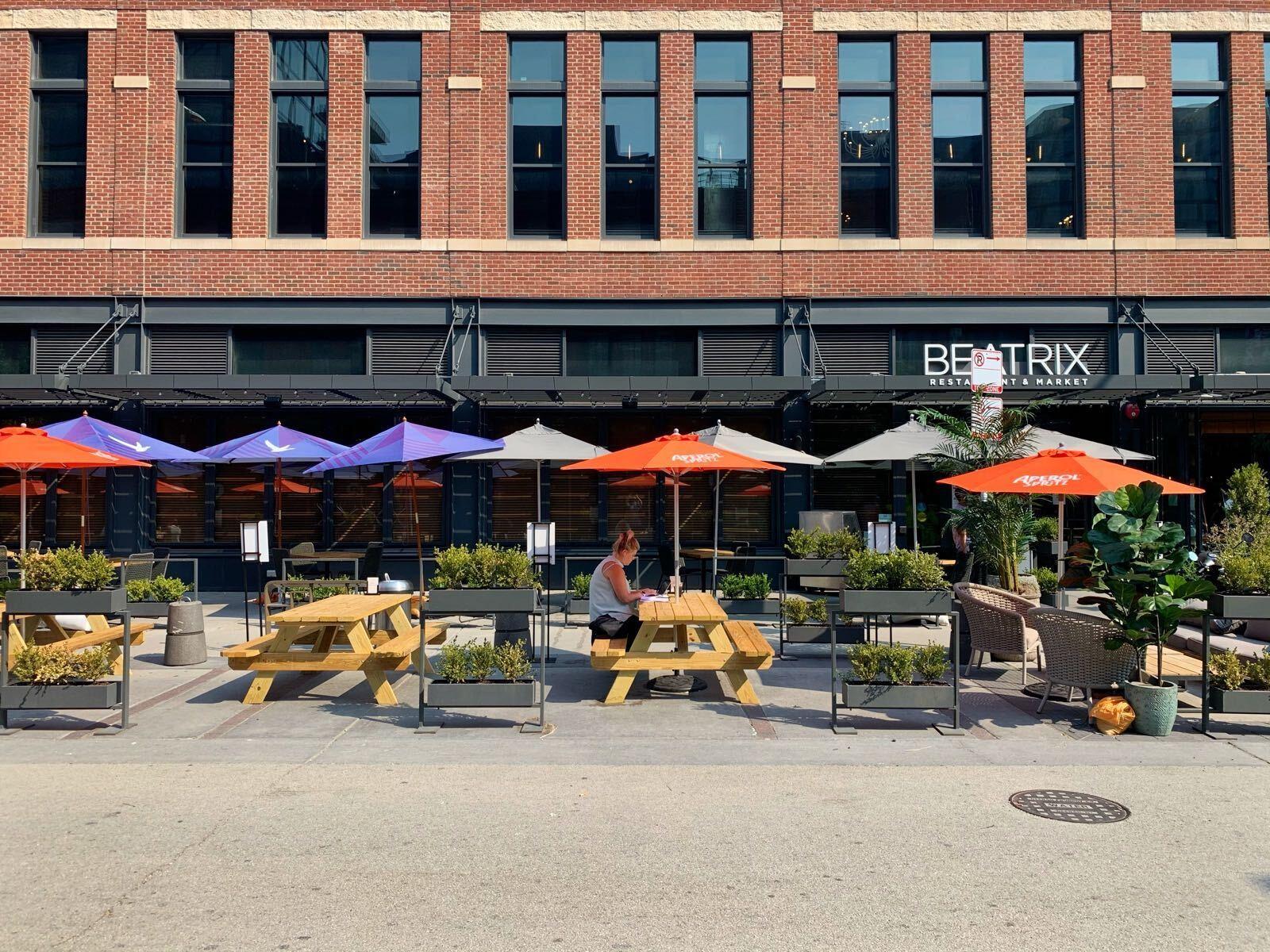Fulton Market outdoor dining