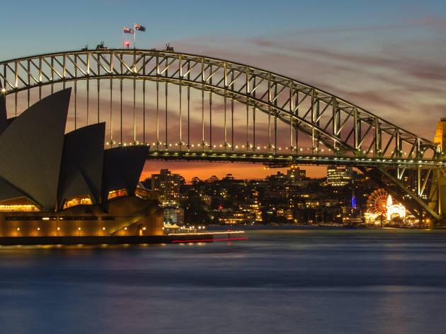Sydney city at dusk