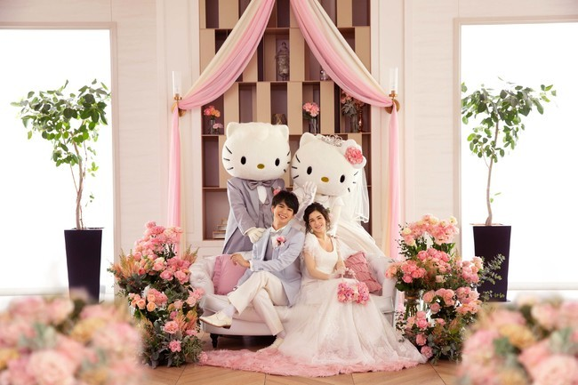 In Japan, you can have your desire wedding ceremony showcasing your favourite cartoon characters