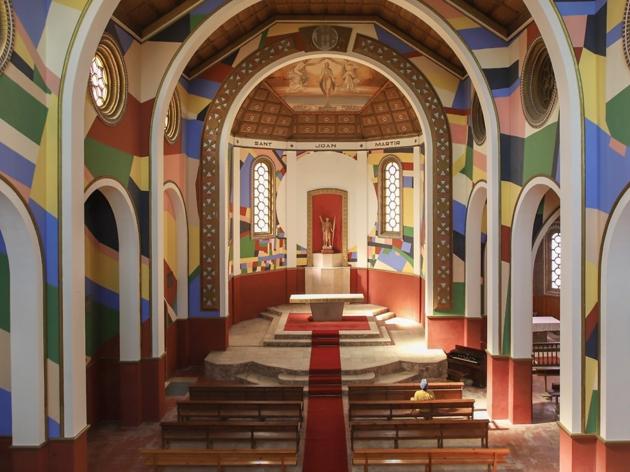 Església de Penelles intervinguda per Berni Puig (2020)
