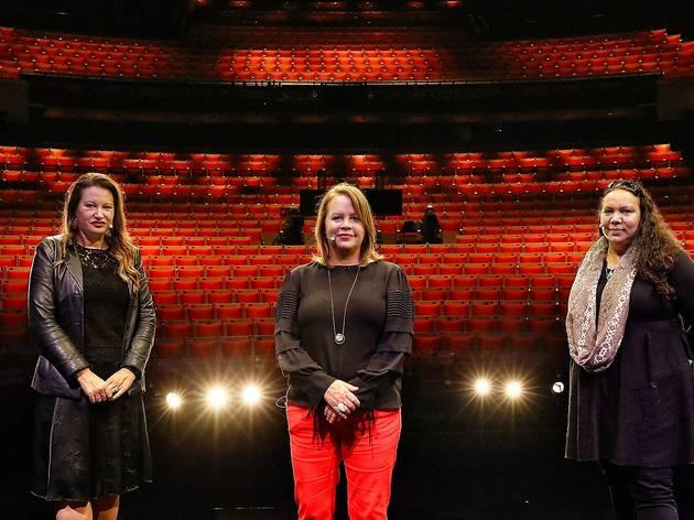 Larissa Behrendt, Phillipa McDermott and Pauline Clague in the Joan Sutherland Theatre