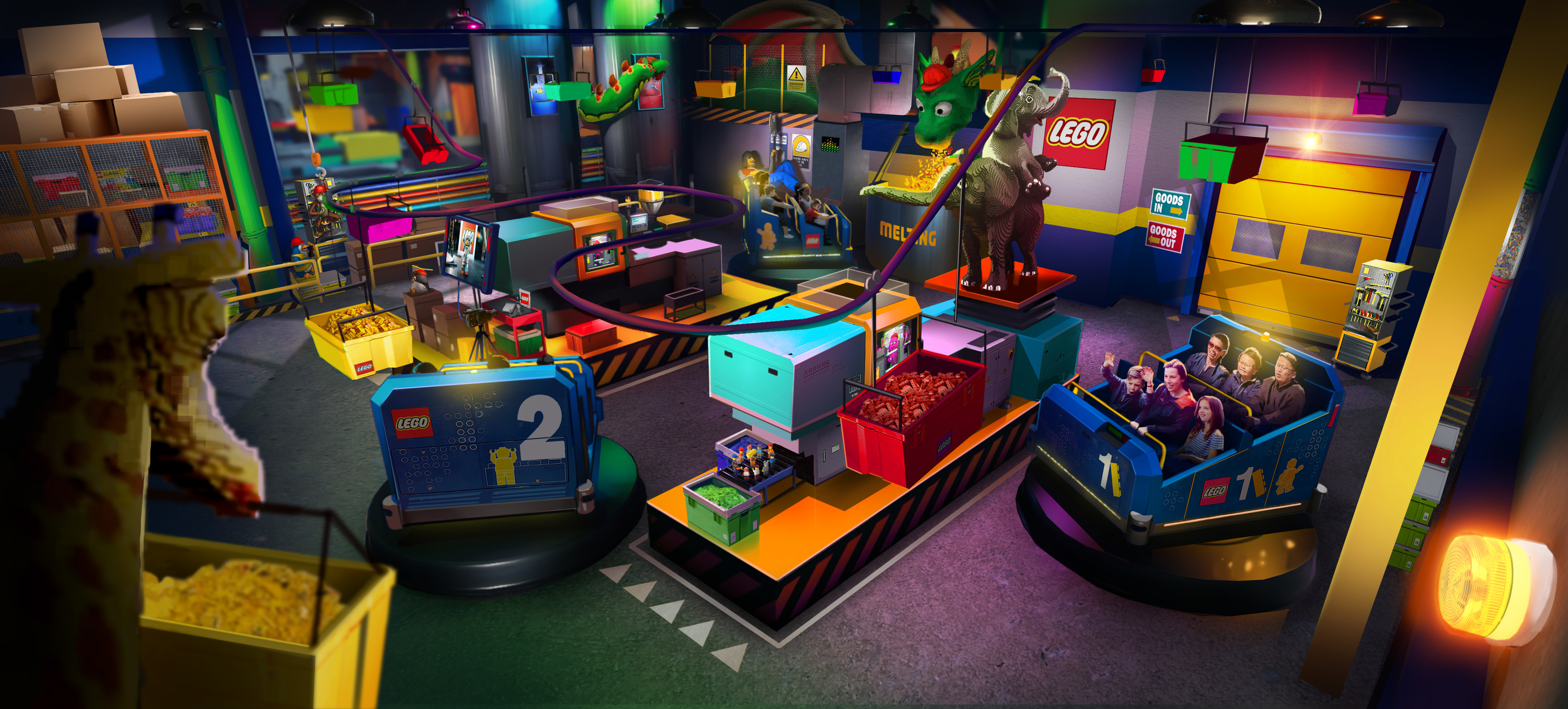 Get a sneak peek at LEGOLAND New York's coolest ride