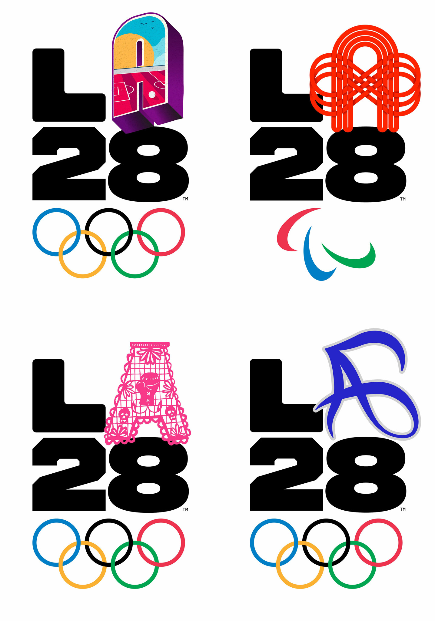 Meet L.A.'s 35 different logos for the 2028 Olympic and Paralympic Games