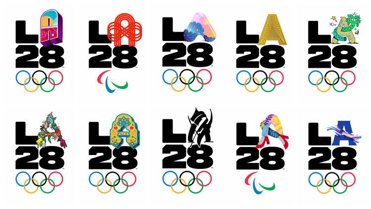 LA28 logos