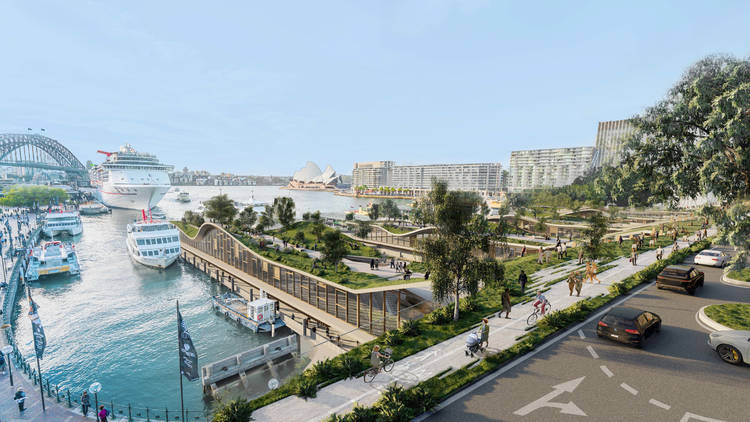 The proposed upgrades to Circular Quay