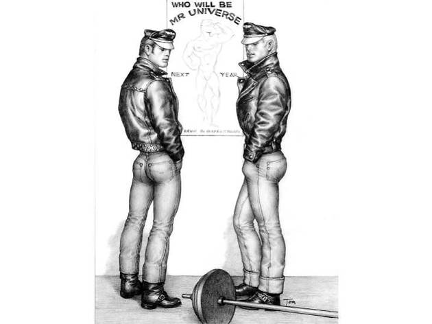 TOM OF FINLAND (Finnish, 1920-1991), Untitled, 1963, Graphite on paper, 12.44 in. x 9.38 in., Tom of Finland Foundation permanent collection, © 1963 - 2020 Tom of Finland Foundation